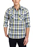 Kenneth Cole New York Men's Western Plaid Shirt, Multi Combo, Large