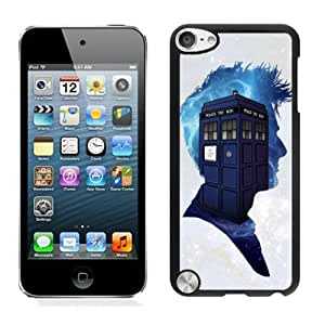 Dr Who Black Case for iPod Touch 5,Prefectly fit and directly access all the features