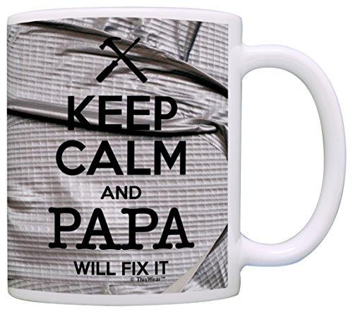 Keep Calm Papa Coffee Simulated