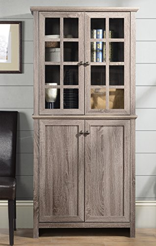 Wood Cabinet Narrow (Homestar Glass Cabinet in Reclaimed Wood Finish)