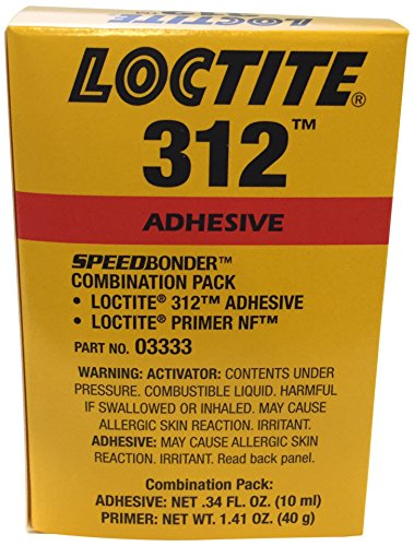 Loctite 228191 Amber Loctite Speedbonder 312 Amber One-Part Acrylic Adhesive, 10 mL Kit by Loctite