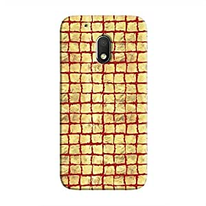 Cover It Up - Gold Red Break Mosaic Moto G4 Play Hard Case