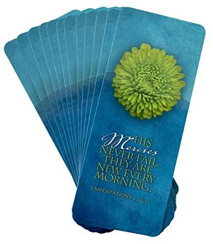 His Mercy – Oversized Inspirational Bookmark (Pack of 12) – His Mercies never fail, they are new every morning. Lamentations 3:22,23
