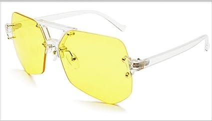 JUNHONGZHANG Gafas De Sol Gafas Irregulares Sin Marco Gafas ...