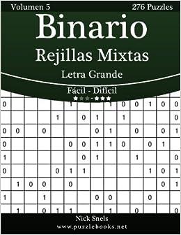 Binario Rejillas Mixtas Impresiones con Letra Grande - De