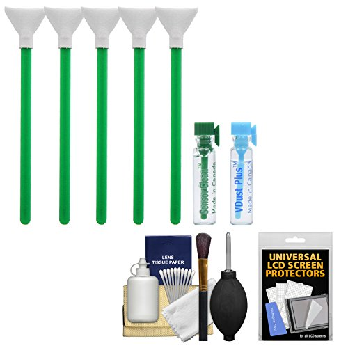 VisibleDust EZ Sensor Dual Power-X Cleaning Kit for Size 1.3x (20mm) DSLR & Micro 4/3 Olympus PEN/OM-D & Panasonic G Micro Four Thirds Cameras with 1ml vDust Plus & 1ml Sensor Liquids & 5 Vswabs + Kit by VisibleDust