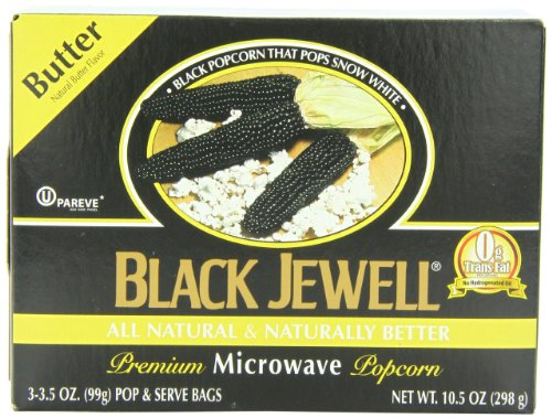 Black Jewell Popcorn, Microwavable,Butter 10.5 OZ (Pack of 3) (Black Jewel Popcorn Microwave compare prices)