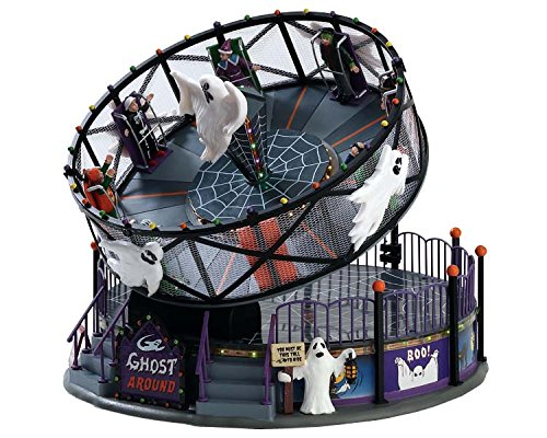 Lemax 2017 Halloween Ghost Around Porcelain Spinning Rising Spooky Carnival Ride
