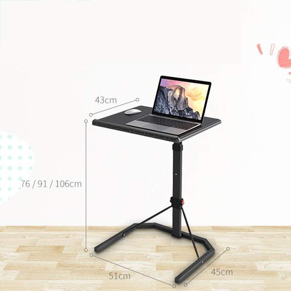 Amazon.com: Tables ZR-Wall Folding Black Laptop Adjustable Height Portable Gaming Computer Desk Stand Tray -save space (Color : B): Kitchen & Dining