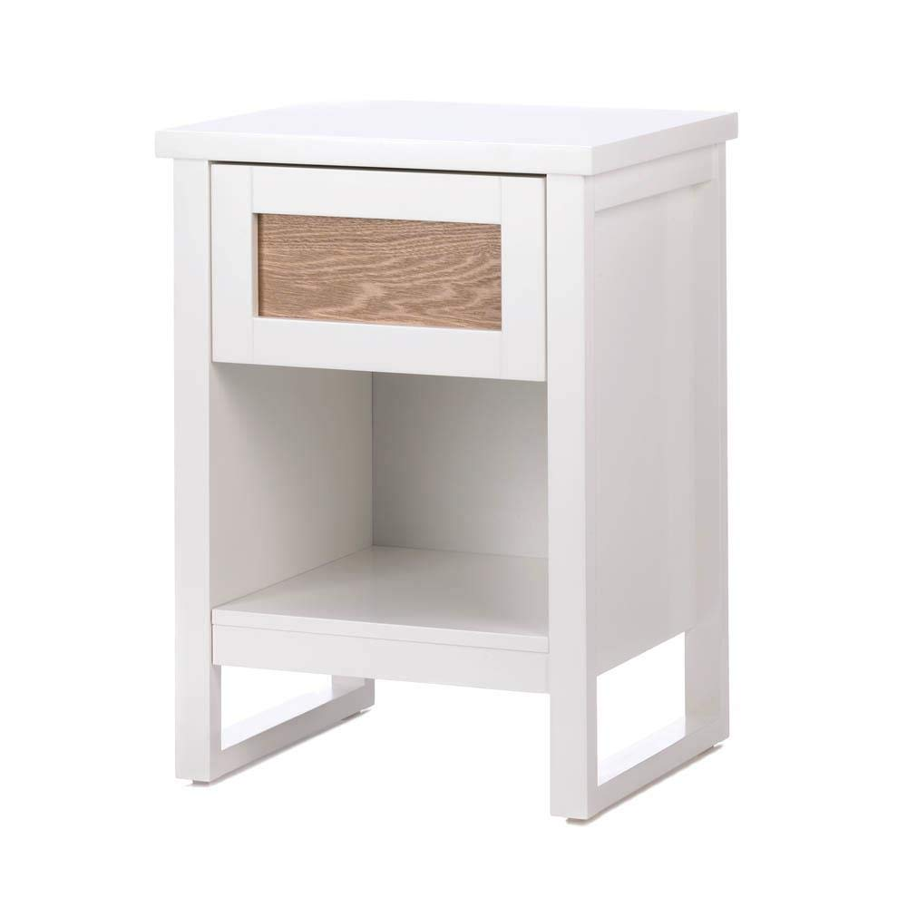 Dayanaprincess Perfect White Side Table Nightstand Solid Construction Living Room Bedroom Useful Contemporary Furniture Bookcase Sofa Side Bedside Coffee Table Minimalist Design by Dayanaprincess