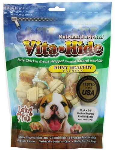 (Loving Pets Vita-Hide Joint Healthy Formula With Chicken, 2-3-Inches, 18/Pack)