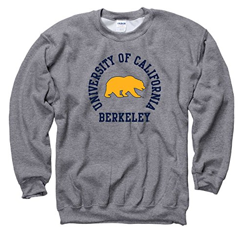 Campus Colors Cal Golden Bears Adult NCAA Team Spirit Crewneck - Graphite, Medium ()