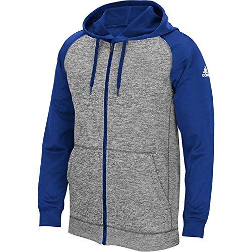 Adidas Man Climawarm Laget Fråga Fullt Jacka Gråmelerad / Kungsblå