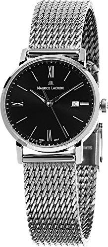 maurice-lacroix-eliros-womens-stainless-steel-mesh-bracelet-black-dial-swiss-watch-el1084-ss002-313-
