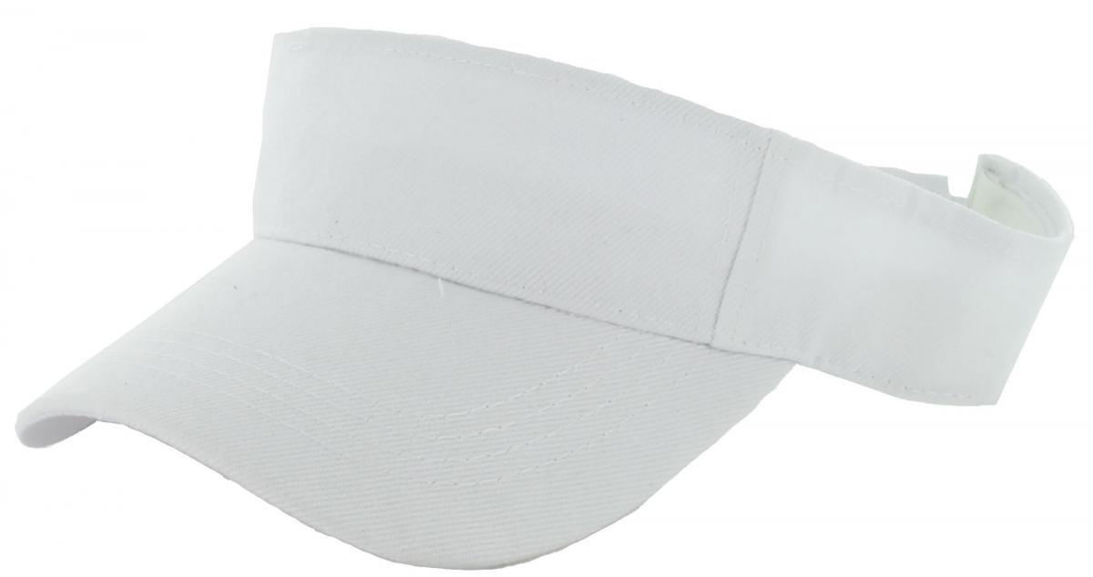 Easy-W White_Plain Visor Sun Cap Hat Men Women Sports Golf Tennis Beach New Adjustable by Easy-W (Image #1)