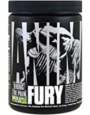 Universal Animal Fury Pakket van 1 x 82,65g – Pre workout – BCAA – Citrulline - Beta Alanine - Tyrosine en Cafeïne (Green Apple)