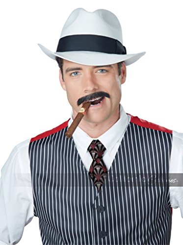 California Costumes Men's Gangster Stache, Brown One -