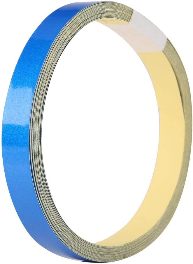 Blue Car Reflective Tape Decoration Stickers Adhesive Tape Roll Strip 1cm 5m Warning Tape Decoration Stickers Safety Warning Strip Decal for Car Motorcycle Vehicle Body
