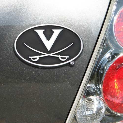 Virginia Cavaliers Chrome Team Logo Auto Emblem