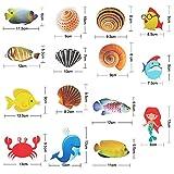 Hotop 15 Pieces Bathtub Stickers, Sea Creature