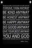 Mother Teresa Quote - Motivational Quotes - Wall Quotes Canvas Banner