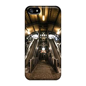 Iphone5 iphone 5s iphone 5 High Quality phone carrying case cover Pretty phone Cases Covers Classic shell Escalators In Train Station Hdr