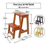 XSJ-Stepstools Wooden Step Ladders Folding Stool 2