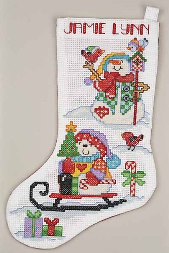 Janlynn Big Stitch Snowmen Stocking Cntd X-Stitch Kit (Snowman 22 Stocking Christmas)