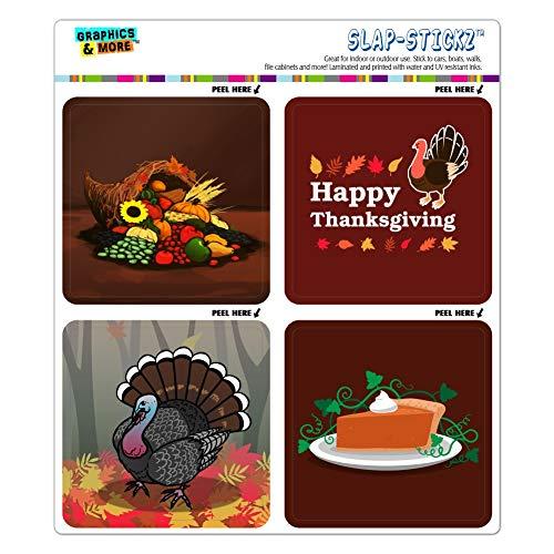 - GRAPHICS & MORE Happy Thanksgiving Turkey Cornucopia Pumpkin Pie Craft Scrapbook Planner Calendar Sticker Set