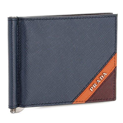 PRADA(プラダ) 財布 メンズ SAF.STRIPE COLOUR 2つ折り財布 BALTICO PAPAIA GRANATO 2MN077-2EGO-574 [並行輸入品] B07FP9WLLT