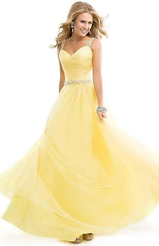 Aurora Bridal A Line Chiffon Straps Beading Bridesmaid Dresses 2016 for Women