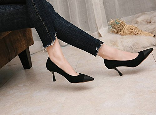 SFSYDDY Pointed Stilettos - Zapatillas deportivas para mujer coreana (bajas, retros), Thirty-six Thirty-six