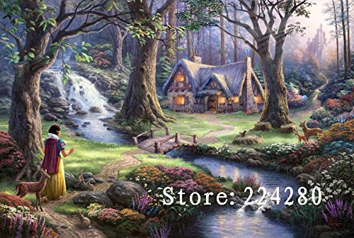 Zamtac Needlework,Cross Stitch The Log Cabin in The Forest Handmade 14CT Canvas DIY,DMC,Cross-Stitch Kits,for Embroidery Art Home Decor - (Cross Stitch Fabric CT Number: 14CT White Canvas)