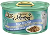 Fancy Feast Elegant Medleys for Cats, Yellowfin Tuna Tuscany in a Savory Sauce, 3-Ounce Cans (Pack of 24), My Pet Supplies