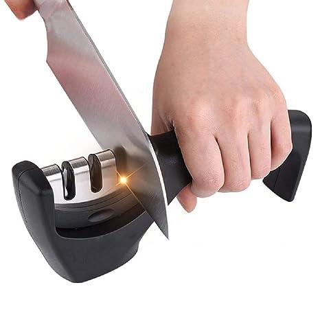 Afilador de cuchillos profesional de acero inoxidable de ...