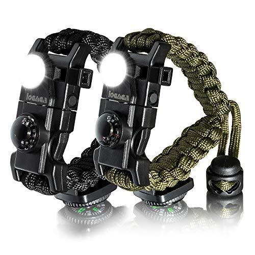 LOGAGA Survival Paracord Bracelet, The Ultimate Tactical Survival