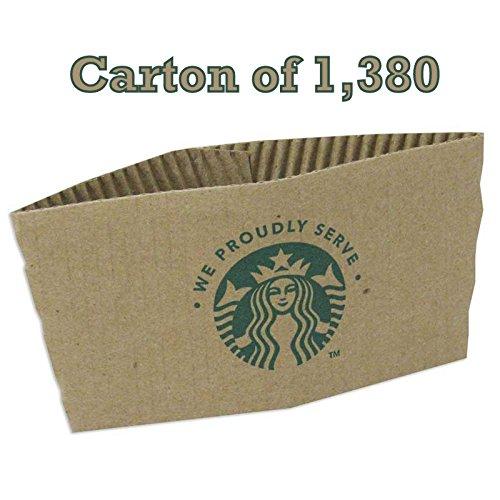 Starbucks Coffee Cup Sleeves. Coffee Jackets for Hot Cup 1380 Sleeves Per (Starbucks Hot Cup Sleeve)
