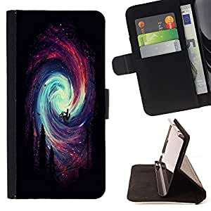 Super Marley Shop - Funda de piel cubierta de la carpeta Foilo con cierre magn¨¦tico FOR Apple iPhone 6 6S 4.7 - Space Thunver storm