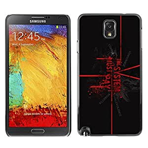 GagaDesign Phone Accessories: Hard Case Cover for Samsung Galaxy Note 3 - The System Must Pay