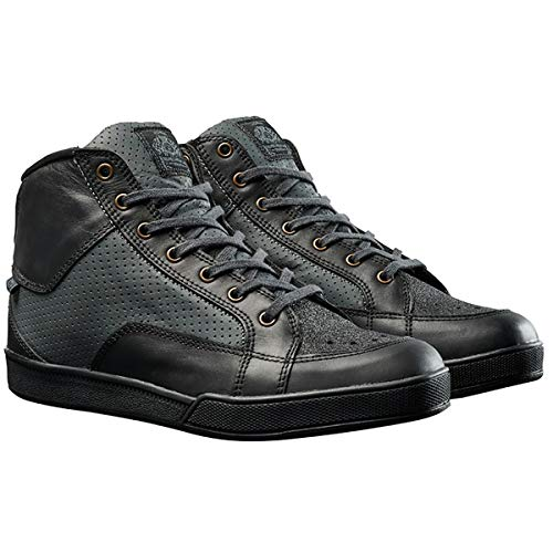 (Roland Sands Design Fresno Perforated Men's Street Motorcycle Shoes - Black Charcoal / 10.5)
