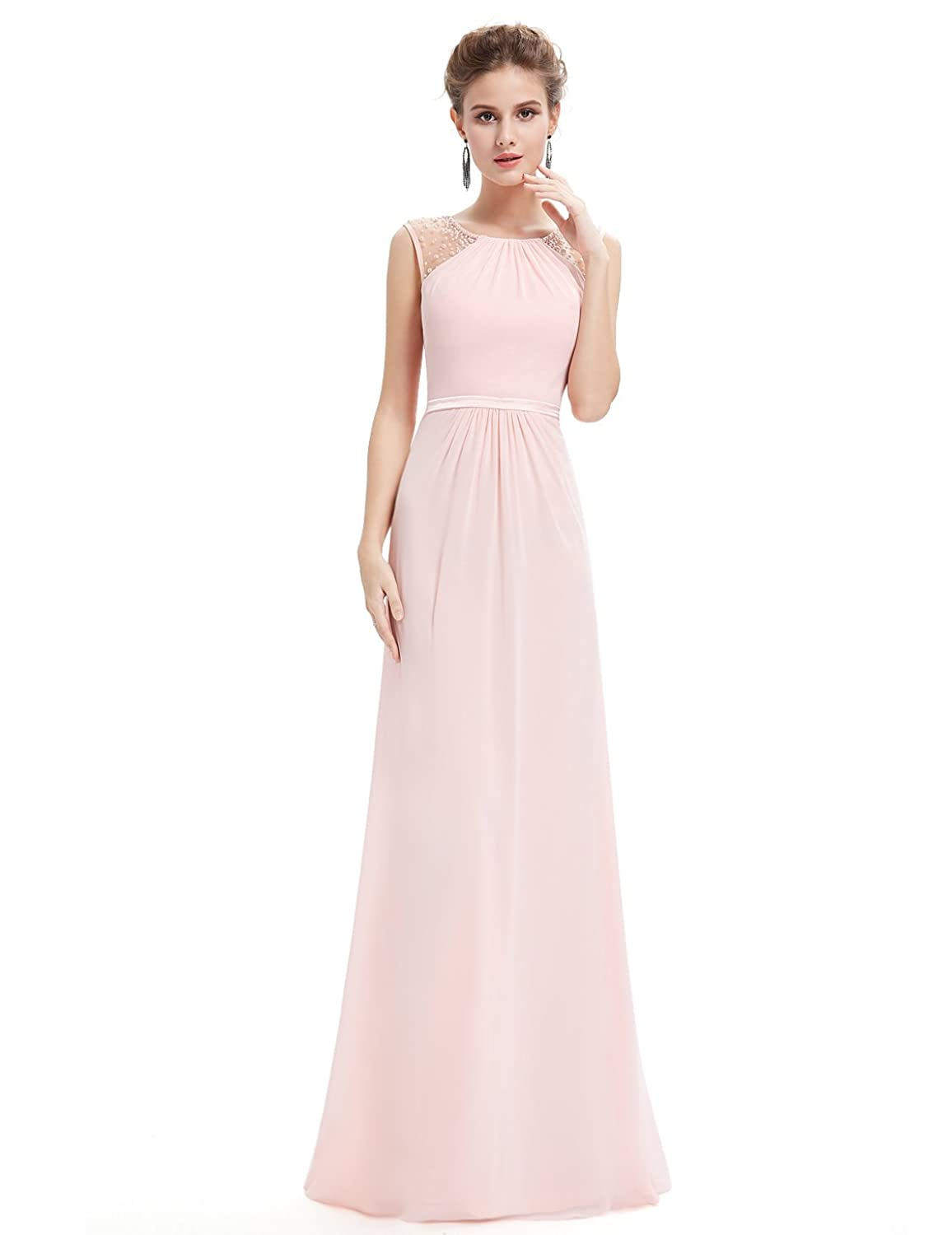 Ever Pretty Maxi Long Sleeveless Chiffon Wedding Bridesmaid Dresses 08742