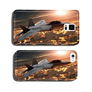 F-22 Fighter Jet at Sunset cell phone cover case Samsung S6