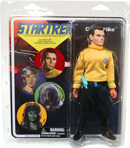 Diamond Select Star Trek Original Series Cloth Retro Action Figure Series 8 Capt. Pike