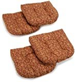 Blazing Needles Indoor/Outdoor Spun Poly 19-Inch by 19-Inch by 5-Inch All Weather UV Resistant U-Shaped Cushions, Vanya Paprika, Set of 4 Review