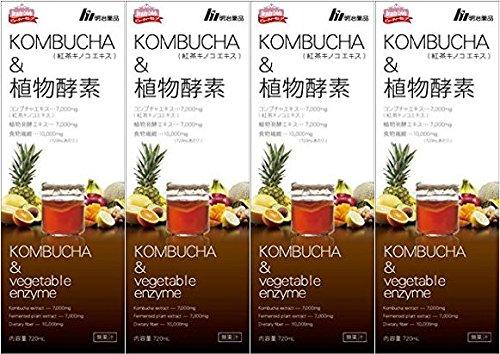 【4本セット】KOMBUCHA&植物酵素 720mL B07CK3XC4M