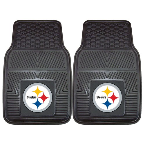 FANMATS NFL Pittsburgh Steelers Vinyl Heavy Duty Car Mat]()