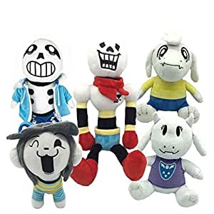 Heavens Tvcz Plush Toy Set Soft Stuffed Doll Sans Papyrus Animal Temmie Toriel Asriel Gift Kids Baby Hot Touch 5Pcs