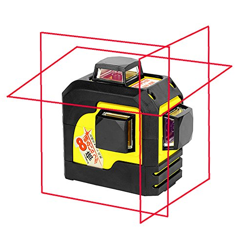 Firecore Professional 93TR 3 Plane Laser Level 3D 12 Lines Red Self-Leveling Laser(batteries included)
