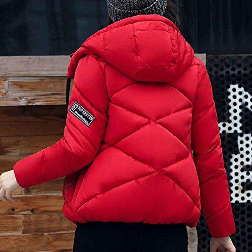 Outwear Cerniera Cappotto Sottile Masterein Cotone Imbottito Rossi Inverno Di Parka In Piumino Supera Corto Donna Delle Incappucciato A7qFWZT