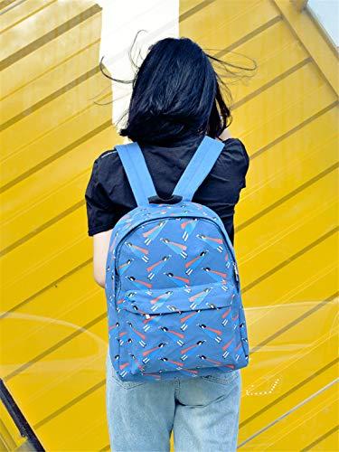 Mochilas Simple Adolescentes Antirrobo Bolsos Capacidad Estampados Azul Escolares Lona Universitarias Mochila Fashion Viaje Viajes Diario Gran Moodn HqTxgEIwc